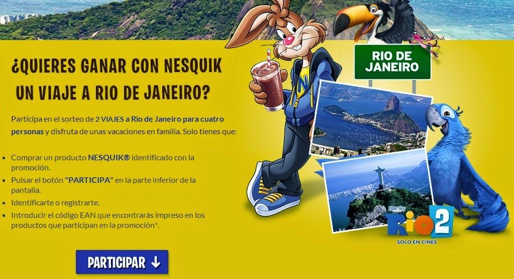 promoción nesquick: viaje a río de janeiro gratis