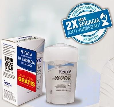 probar desodorante rexona gratis