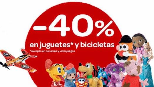 40% descuento juguetes carrefour