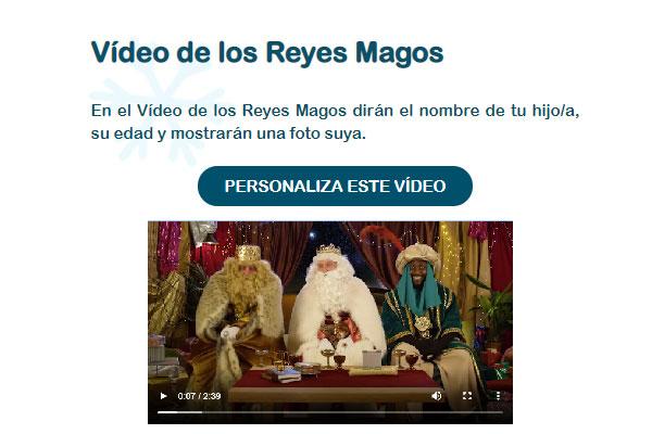 Vídeo carta Reyes Magos Gratis
