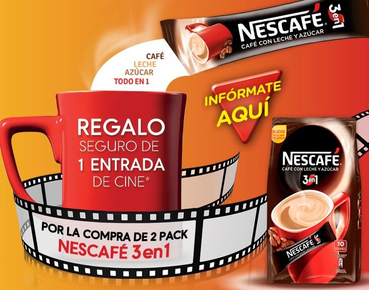 entrada de cine gratis con Nescafé
