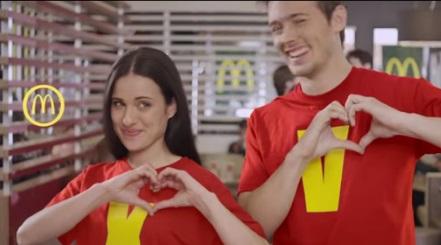 promoción Mcdonals corazón