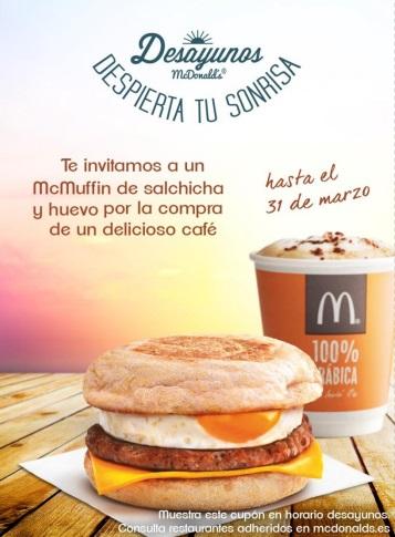 Mcdonals te invita a un McMuffin gratis