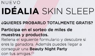 gratis Idéalia Skin Sleep de Vichy