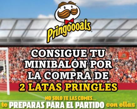 minibalón gratis de Pringles
