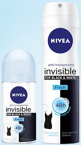 Nivea invisible for black & white fresh gratis