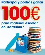 100 euros en material escolar gratis
