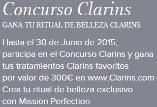 ritual de belleza Clarins gratis