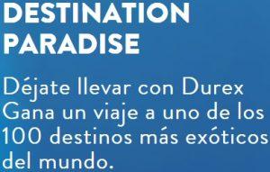 viaja gratis con Durex Destination Paradise