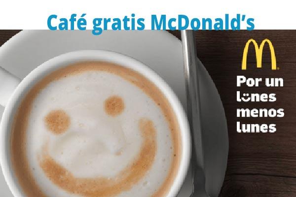 Lunes café gratis McDonald's