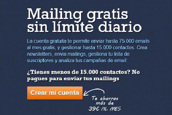 75000 mails gratuitos Mailrelay