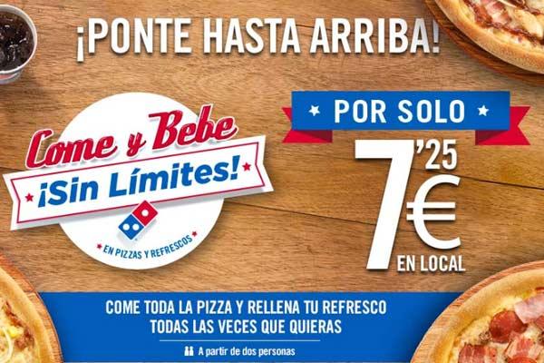 Promoción domino's pizza 7,25€