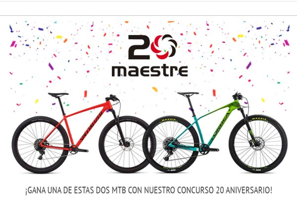 Sorteo mountain bikes maestre