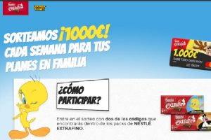Sorteo Looney Tunes Nestle