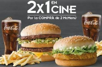 2×1 en cine con McDonals