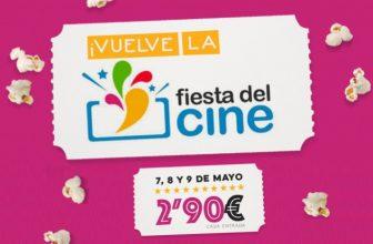 Fiesta del cine 2018, 7, 8 y 9 de Mayo a 2,90€
