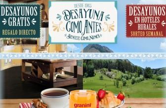 Noches de hotel y desayunos gratis con Granini