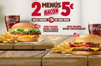 Promoción Burguer King 2 menús por 5€