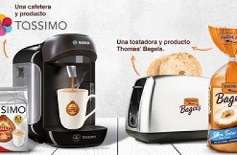 Cafetera Tassimo y tostadora gratis