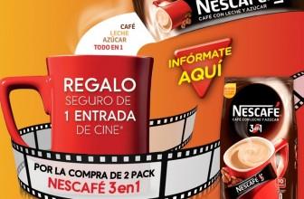 Regalo seguro: entrada de cine gratis con Nescafé 3 en 1
