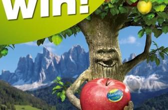 Etiquetas con premio en las manzanas Marlene