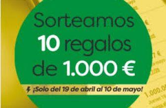 10 premios de 1.000€ con la ONCE